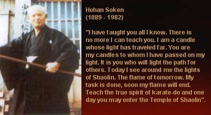 Hohan Soken Prayer